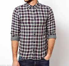 Ralph Lauren Men's Check Fitted Collared Casual Shirts & Tops