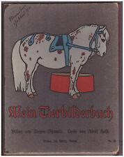 Mein Tierbilderbuch Oßwald/Holst um 1900 Jugendstil - Aufklappbuch- selten