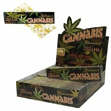 Cannabis Rolling Paper King Size Slim Flavoured Full box of 25 Booklets