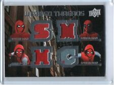 2017 UPPER DECK MARVEL SPIDER-MAN HOMECOMING QUAD WEBBED THREADS RELIC#WTQ1
