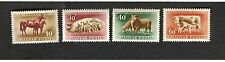 1952 Magyar Hungary SC #C87-90 LIVESTOCK MH stamps PIG SHEEP COW HORSE