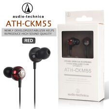 NEW Audio Technica ATH-CKM55 Dynamic In-Ear Headphones RED