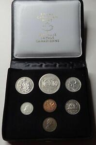 1974 Canada Double Penny Specimen Mint Set - Original Leather Case & COA!