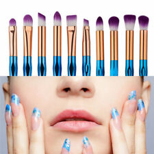 10Pcs Pro Diamond Makeup Eyebrow brush Horn Handle Cosmetic Powder Brush Set rf