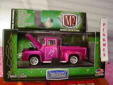 2016 M2 Machines Tom Kelly 1956 FORD F-100 TRUCK∞Hot Pink;Rubber Tires∞Walmart