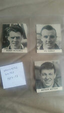 FOOTBALL 1958 comic book cut-out trade cards NEWCASTLE UNITED UTD x3