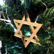 Mirroring oro stella di Davide Decorazioni Albero Natale - Confezione da dieci