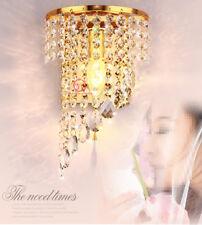 Modern K9 Kristall Golden Wandleuchten Wandlampe für Flur Treppe Übernachtung