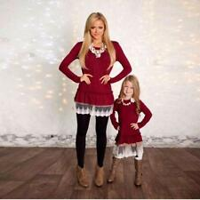 New Ladies Mother Daughter Matching Outfit Baby Girls Dress Womens Kids Clothes
