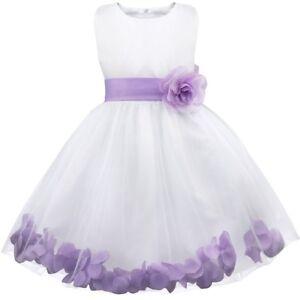 Flower Girls Dress Bridesmaid Gown Wedding Princess Party Formal Ballroom Maxi