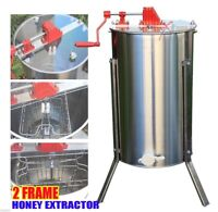 MANUAL HONEY EXTRACTOR STAINLESS STEEL TANK 2/4 FRAME Beekeeping Bee Hive Equip