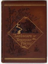 Landscape in American Poetry by Lucy Larcom, New England, Antique Hardcover 1879