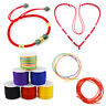 0.8mm 45m Waxed Cotton Cord Wire Beading Macrame String Jewelry DIY