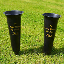 Special Dad In Loving Memory Spiked Memorial Grave Flower Vases Holder Set New