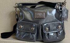 NWT Coach Poppy Swing 2Way Shoulder Bag Hobo Crossbody Silver 14561