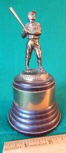 "1930s 40s DODGE Bakelite Brass & Bronze 6"" BASEBALL TROPHY Batter Retro Decco"