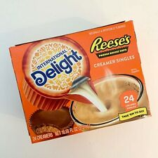 NEW International Delight Reese's Peanut Butter Cup Creamer Singles 1 box/24 ea
