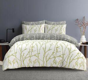 White Bedding Set Duvet Cover 100% Cotton 200TC Double Super King Size Bed Quilt