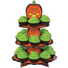 Wilton Pumpkin Jack O Lantern Cupcake Treat Stand 1512-1679 Orange Halloween