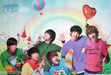 """2PM """"GROUP WITH RAINBOWS & BALLOONS"""" ASIAN POSTER-Kpop"""