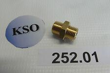 "Doppelnippel 1/4"" AG Messing Fitting Verbinder Pneumatik Wasser Druckluft NEU"