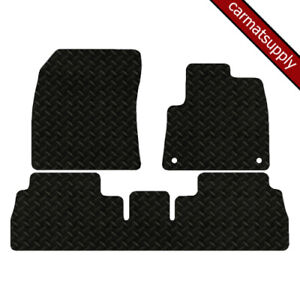Car Mats for Peugeot Rifter 2018 onwards Fully Tailored Black Heavy Duty Rubber