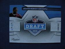 2010 Prestige R/C Anthony Dixon #31 NFL Draft Rookie $1S&H football