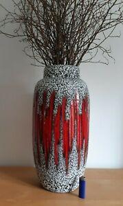 Scheurich Keramik XL Boden Vase 553 52 Lora Floor red fat lava 60s 70s WGP MCD