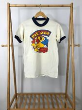 VTG 1981 Pac-Man Arcade Short Sleeve Single Stitch Ringer Thin T-Shirt Size S