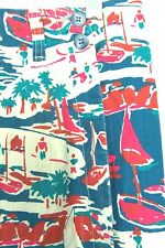 Ruff Hewn Sailboat Scene Wrap Skirt w/Buttons Blue, Green & Pink Skirt Sz 12