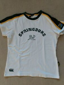 Small Springbok South Africa Rugby Ladies Fitted T-shirt