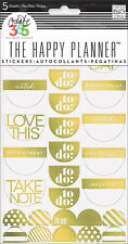 """me&my BIG ideas Create 365 The Happy Planner GOLD FOIL """"TO DO"""" Stickers - 5 shts"""
