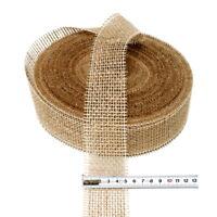 Juteband natur hart, 50mm breit - 40 Meter, Jute ist ein Naturartikel ***