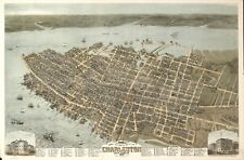 A4 Reprint of American Cities Towns States Map Charleston South Carolina