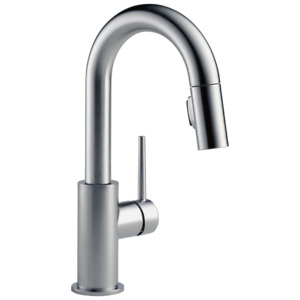 Delta Trinsic 9959-AR-DST Pull-Down Bar/Prep Faucet (Arctic Stainless)