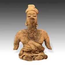 Pre-Columbian Terra Cotta Female Figure Colima West Mexico 100 Bc - 300 Ad