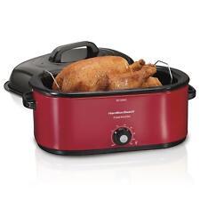 22 Quart Roaster Oven Cooker Bake Pot Adjustable Fits 28 lb Thanksgiving Turkey