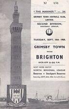 Grimsby Town v Brighton, Division 2, 16/9/1958