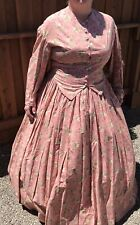Misses Reenacting 2-Piece Dress Size 12 Civil War, 1800'S, Cosplay, Theater