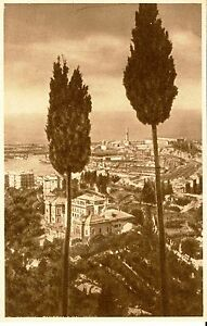 GENOVA PANORAMA DAL QUARTIERE RIGHI 1938 M. PELOSO