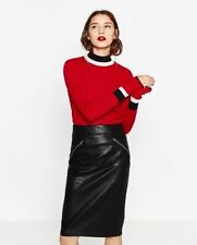 Zara Patternless Straight, Pencil Skirts for Women