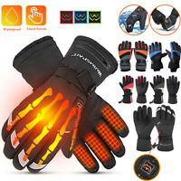 Thermal Electric Battery Heated Gloves Winter Warm Outdoors Motorcycle Ski Glove