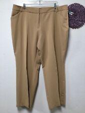 c62c1a841f2 Womens dress slacks pants size 20W tan two front pockets Ashley Stewart 186
