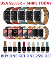 Leather Wrist Strap For Apple Watch Band 38/40/42/44mm Series 6 5 4 3 2 1 SE
