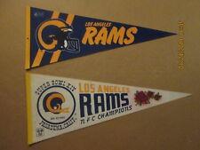 NFL Los Angeles Rams 1980's 2 Bar Facemask & Super Bowl XIV Football Pennants #2