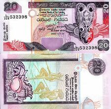Sri Lanka 20 Rupees Banknote World Paper Money Unc Currency Pick p116d (Ceylon)
