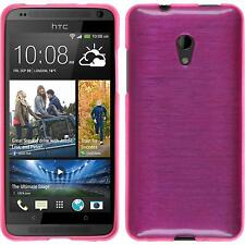 Silicone Case HTC Desire 700 brushed hot pink + protective foils
