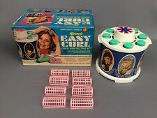 Vintage 1968 Kenner's EASY CURL Quick Hair Setting Kit Childs Girl Toy w/ Box