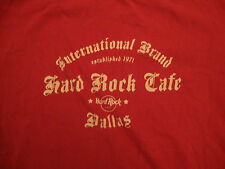 Hard Rock Cafe International Brand Dallas Texas Restaurant Ringer T Shirt M
