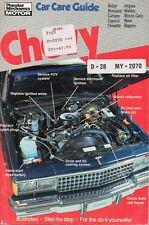 Camaro Belair Biscayne Caprice Chevelle Impala Tuneup Repair Manual NEW American